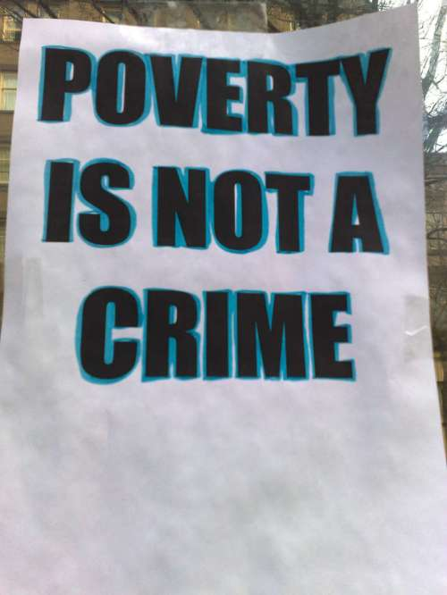 Poverty is not a crime