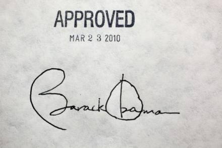 Obamacare signature