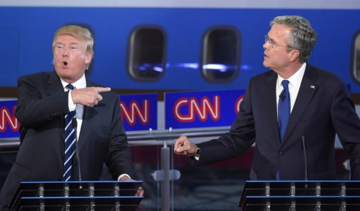 Trump Bush CNN debate September 16 2015