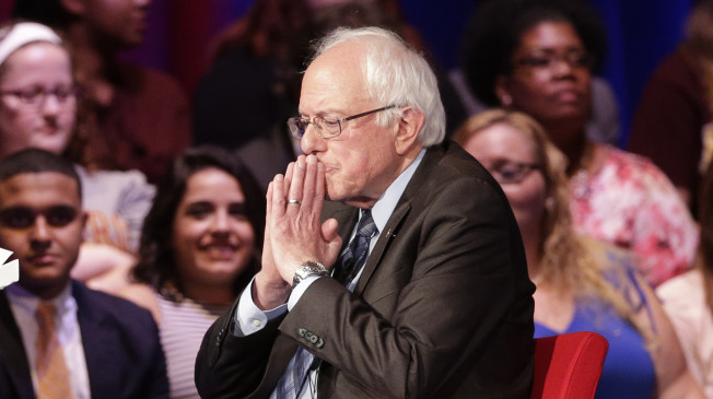 Democratic presidential candidate, Sen. Bernie Sanders, I-Vt, pauses during a democratic presidential candidate forum at Winthrop University in Rock Hill, S.C., Friday, Nov. 6, 2015. (AP Photo/Chuck Burton)
